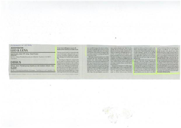 recensie Volkskrant Dissus