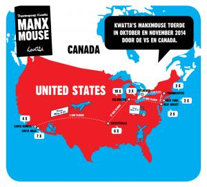 Manxmouse toer kaart