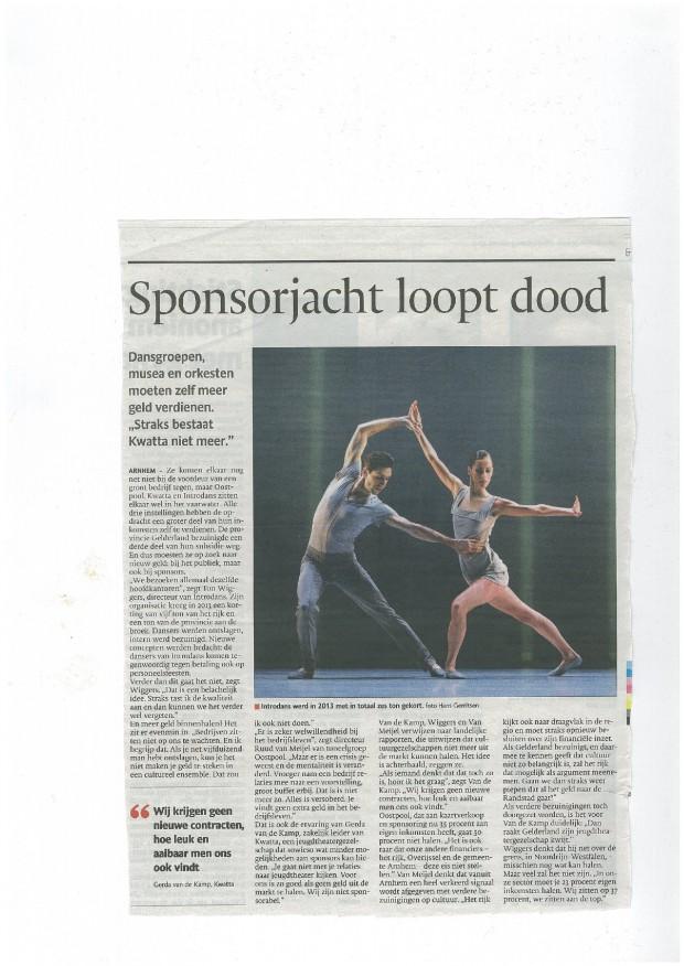 Gelderlander Sponsorjacht loopt dood 05032015