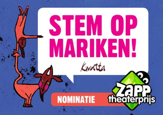 Nominatie zapp theaterprijs